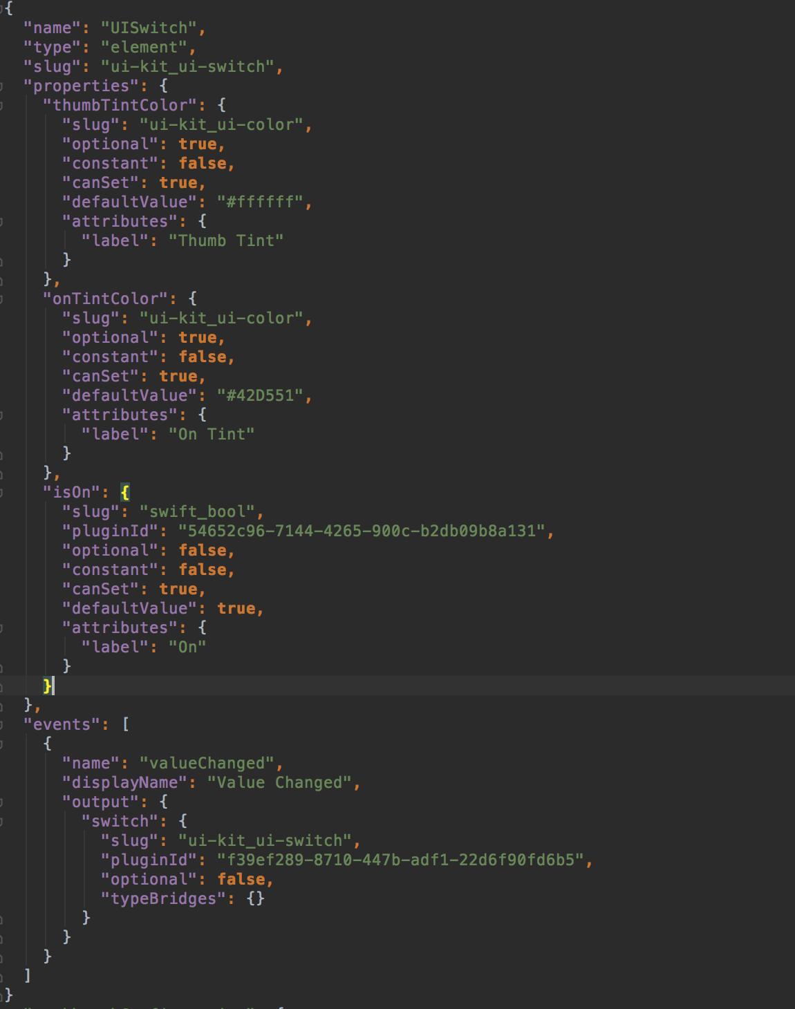 element definition file